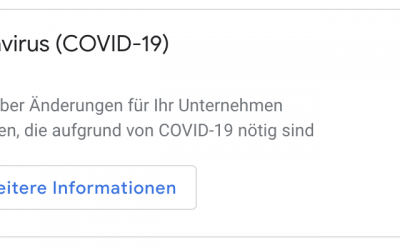 Covid-19 – Google MyBusiness